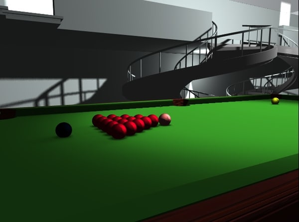 3d model house structure snooker table