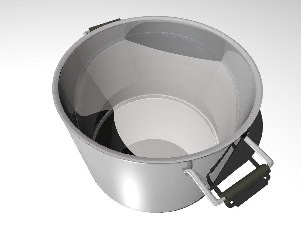 3d model pot metal