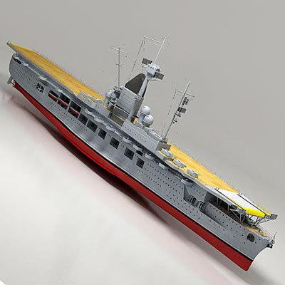 graf zeppelin aircraft carrier 3d model
