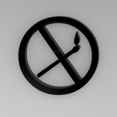 fires sign symbol 3d 3ds
