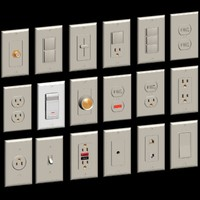 A01A-Electrical device set switches and outlets and materials