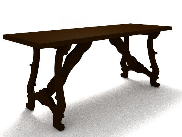 old table 3d lwo