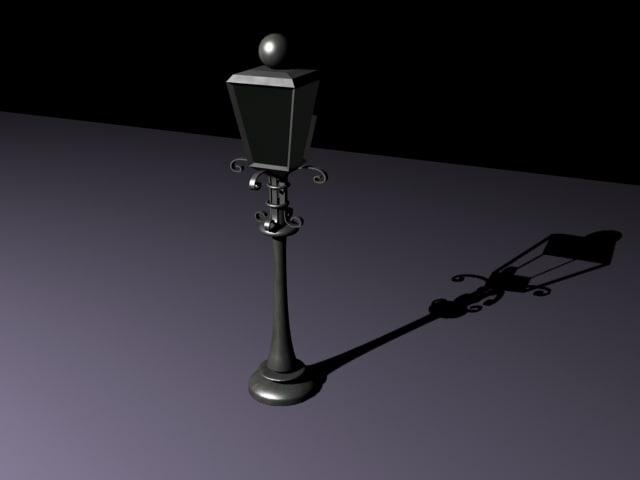street lamp 3d max