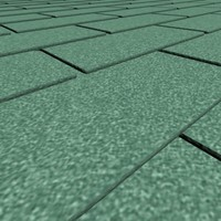 feet roof shingles 9 3d model