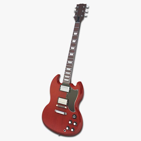 3d model gibson sg guitar