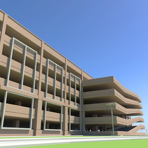 3d stacked parking model