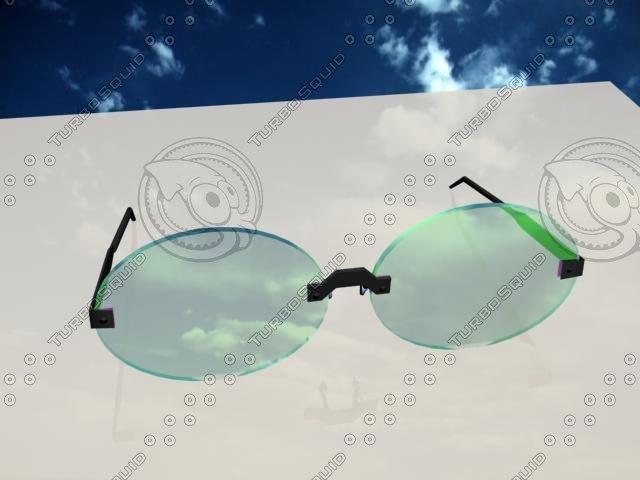 nice glasses new 3d max