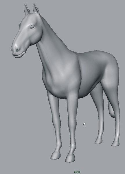 horse 3d ma