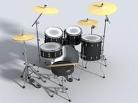 3ds drum set guitar