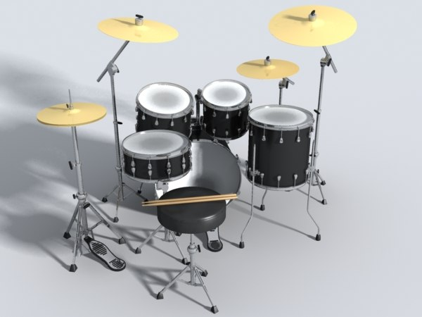 3ds drum set guitar