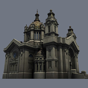 cathedral st paul's 3d model