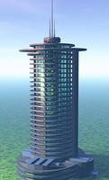 futuristic highrise
