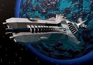 star destroyer inflictor 3d model