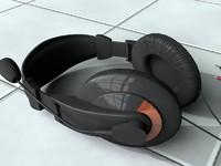 3d headphone head model