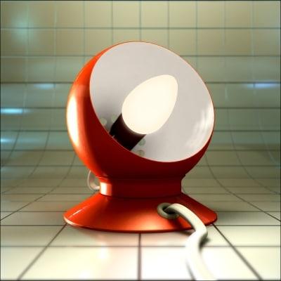 70 magnetic ball lamp 3d model