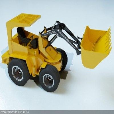bulldozer truck 3d model