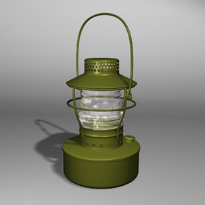 3ds max lantern light lamp