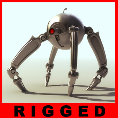 3d rigged droid model