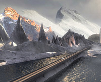 DETAILED VERSION _ MOUNTAIN ROAD SNOW LAKE REALISM VER_2
