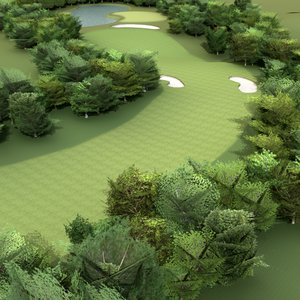 golf course 3d max