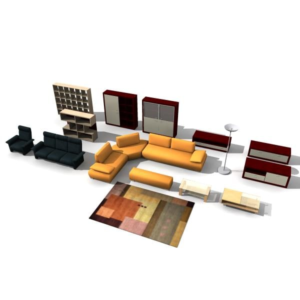 living room furniture 3d model
