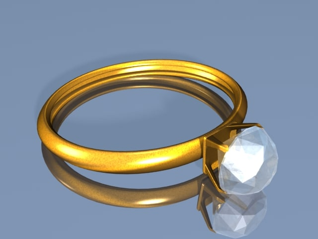 3d engagement ring