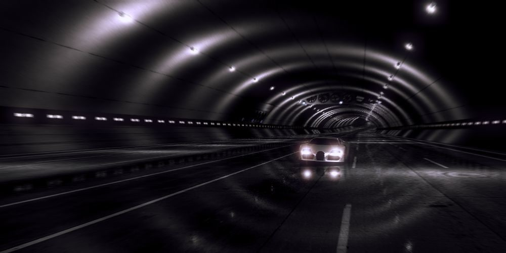 tunnel car 3d model