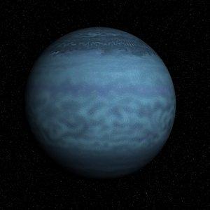 3d model solar planet neptune