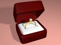 engagment ring box open 3d model