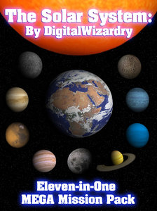 11-in-1 mega solar planets 3d model
