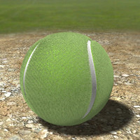 realistic tennis ball uv 3d model