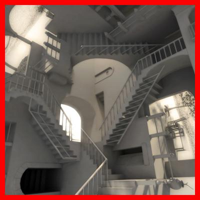 escher´s relativity 3d model