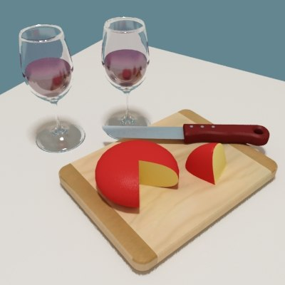 3d cheese crackers board wine