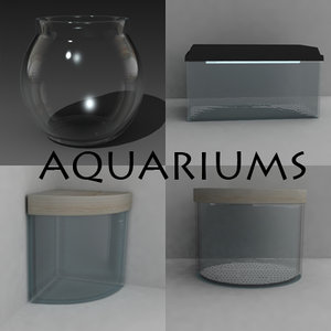 3d fishbowl aquarium model