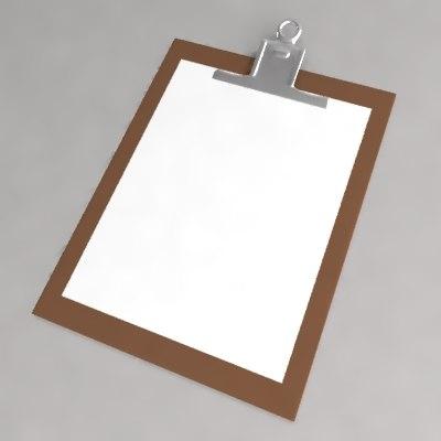 3d model clipboard