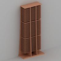 cd rack 3d model
