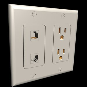 3d plate decora outlet cat5 model