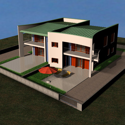 3d c4d house interiors