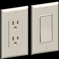 32-Two most common Decora wall plates switch/Outlet and materials