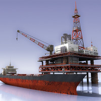 Oil rig and Tanker_01