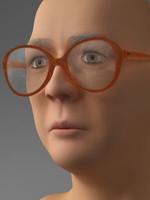 3d model of elderly woman head