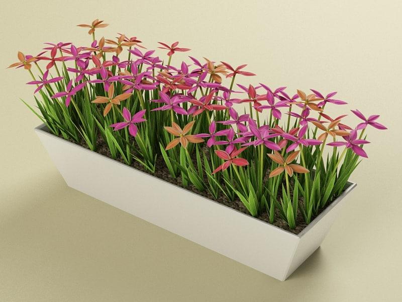 3d model flowerpot modelled