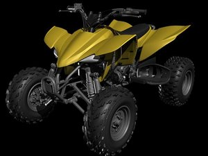 3ds max mortorcycle quadrunner