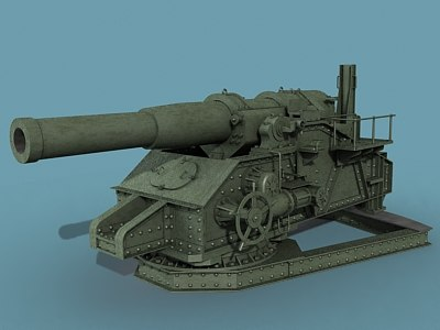 3d russian trench howitzer model