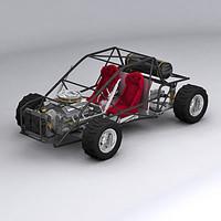 3d dune buggy model