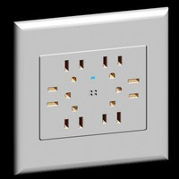 acenti style quad outlet 3d model