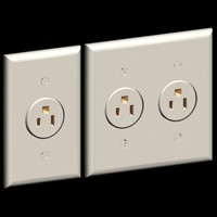 3d model of 2 single gang outlet