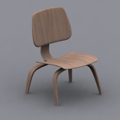 3d eames plywood lounge chair