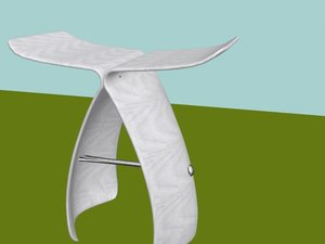 stool butterfly dxf