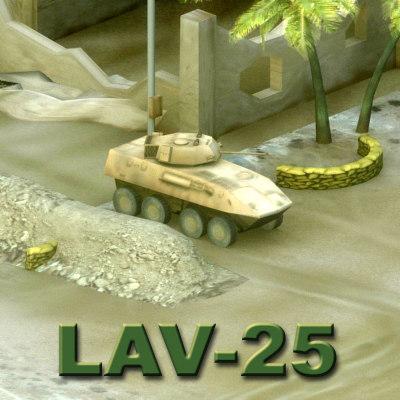 lav-25 vehicle military 3d max